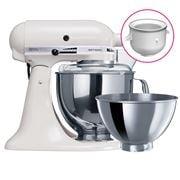KitchenAid - Artisan KSM160 White Mixer w/ Ice Cream Bowl