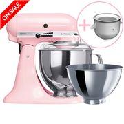 KitchenAid - Artisan KSM160 Pink Mixer w/ Ice Cream Bowl
