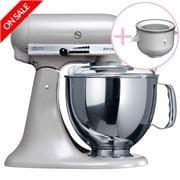 KitchenAid - Artisan KSM150 Contour S Mixer w/Ice Cream Bowl