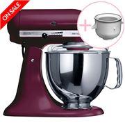 KitchenAid - Artisan KSM150 Boysenbery Mixer w/Icecream Bowl