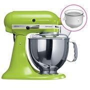 KitchenAid - Artisan KSM150 Apple Mixer w/ Ice Cream Bowl