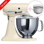 KitchenAid - Artisan KSM150 Almond Mixer w/ Ice Cream Bowl