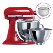 KitchenAid - KSM160 Empire Red Mixer w/ Icecream Bwl