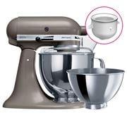 KitchenAid - KSM160 Cocoa Slv Mixer w/ Icecream Bwl