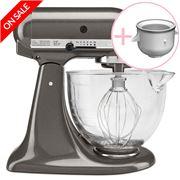 KitchenAid - KSM156 Liquid Graphite Mixer w/ Ice Cream Maker
