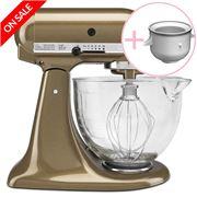 KitchenAid - KSM156 Toffee Mixer with Ice Cream Maker