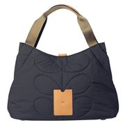 Orla Kiely - Classic Quilted Indigo Shoulder Bag