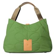 Orla Kiely - Classic Quilted Green Shoulder Bag
