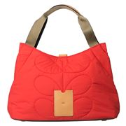 Orla Kiely - Classic Quilted Red Shoulder Bag
