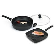 Scanpan - Classic 32cm Saute Pan & 27cm Square Grill Set