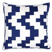 Art In Motion - Indigo Chevron Cushion