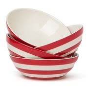 Cornishware - Red Cereal Bowl Set 4pce