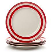 Cornishware - Red Dinner Plate Set 4pce