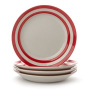 Cornishware - Red Side Plate Set 4pce
