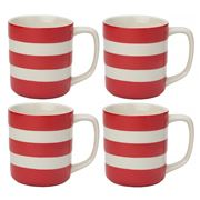 Cornishware - Red Mug Set 4pce 280ml