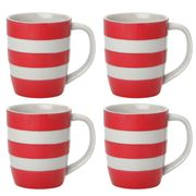 Cornishware - Red Mug Set 4pce 340ml