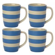 Cornishware - Blue Mug Set 4pce 340ml
