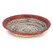 Earth Bound Creations - Extra Large Red Newspaper Bowl