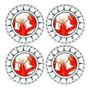 Golden Rabbit - Coastal Lobster Dinner Plate Set 4pce