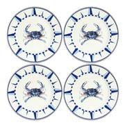 Golden Rabbit - Coastal Blue Crab Dinner Plate Set 4pce