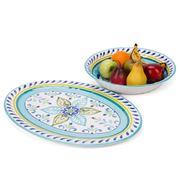 Riviera - Melamine Oval Platter & Serving Bowl Set