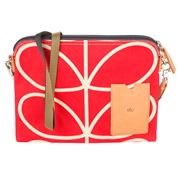 Orla Kiely - Giant Linear Stem Vermillion Travel Pouch
