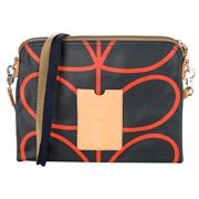 Orla Kiely - Giant Linear Stem Navy Travel Pouch
