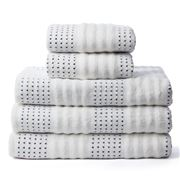 Private Collection - Portofino White & Cobalt Towel Set 4pce