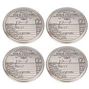 Lexington - Lexington Silver Plated Coaster Set 4pce