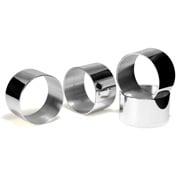 Whitehill - Napkin Rings Round Plain 4pce