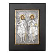 Clarte Icon - Angels Michael & Gabriel in Gold 11x13cm