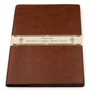 Fiorenza - A4 Light Tan Bonded Leather Book Cover & Journal