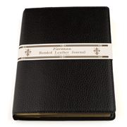 Fiorenza - A5 Bonded Leather Book Cover & Journal Black