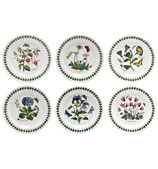 Portmeirion - Botanic Garden Bread 18cm Plate Set 6pce