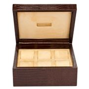 Renzo - Thesius Leather Case for Six Watches Brown