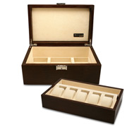 Renzo - Brown Thesius Leather Watch & Jewellery Case