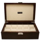 Renzo - Thesius Leather Case for Ten Watches Brown