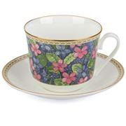 Roy Kirkham - Violets Breakfast Cup & Saucer