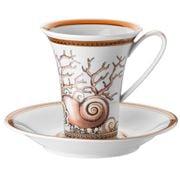 Rosenthal - Versace Etoiles de la Mer Cup/Saucer Set 2pce