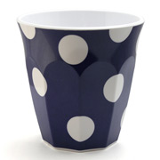 J.A.B. Design - Cafe Cup Navy Blue with White Polka Dots