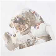 Thumbs Up - NASA Ride With Astronaut Car Window Sticker