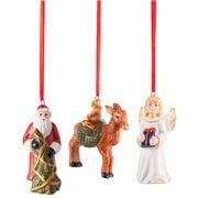 V&B - Christmas Nostalgic Ornaments Santa Angel Deer 3pce