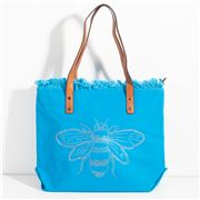 Sassy Duck - Bee-Cause Washed Canvas Tote Sapphire