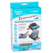 Space Vac - Roll-Up Travel Storage Bag Set 4pce