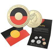 RA Mint - 2021 Uncirc. Coin Set 50th Annv. Aboriginal Flag
