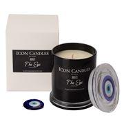 Candles By Eleni - Mati The Eye Candle Black Jar 350g
