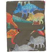 Kip & Co - Dino Earth Cotton Flat Sheet King Single