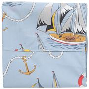 Kip & Co - Hey Sailor Cotton Flat Sheet Single