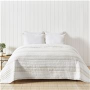 Private Collection - Sheer Linen Stripe Quilt QB 225x240cm