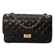 Marlafiji - Bianca Quilted Leather Handbag Black